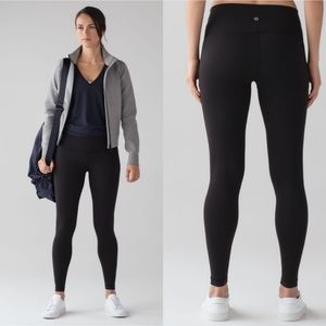 Lululemon Wunder Under Black Pant Legging Size 8